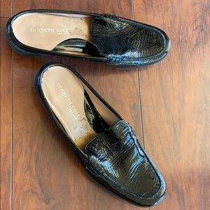 Kenneth Cole Black Patent Mules